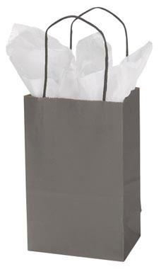 Small Storm Grey Paper Shopper | Store Supply Warehouse