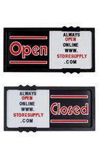 "Black Open/Closed Sliding Sign Board Horizontal - 20""W x 10""H"