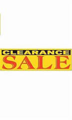 Yellow Clearance Sale Banner - Multi-Colored Font