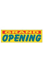 Yellow Grand Opening Banners - Multi-Colored Font