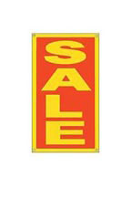 Red & Yellow Window Sale Sign with Suction Cups