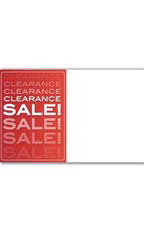 Red Clearance Sale Companion Sign