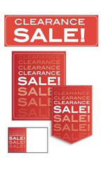 Red Clearance Sale Promotional Sign Kit Set of 61 - White Font