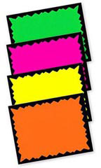"5½"" x 7"" Blank Single Sign Cards - Multi-Colored"