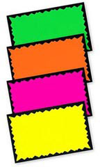 "7"" x 11"" Blank Single Sign Cards - Multi-Colored"