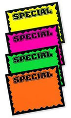 "5½"" x 7"" Blank Single Sign Special Cards - Multi-Colored"