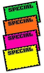 "7"" x 11"" Blank Single Sign Special Cards - Multi-Colored"
