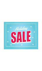 Small Holiday Sale Sign Card - Sparkles