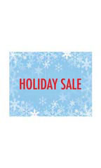 Holiday Sale Sign Card - Snowflakes