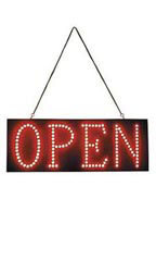 Horizontal LED Open Sign - Red