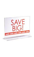 Top Loading Sign Holder Double Sided - Acrylic & Clear