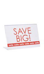 Sign Holder Single Sided - Acrylic & Clear