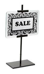 www.store supply.com: Large Antiuqe Bronze Glass Signholder 8 1/2 H x 11 W