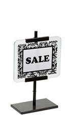 www.store supply.com: Small Antiuqe Bronze Glass Signholder 5 1/2 H x 7 W