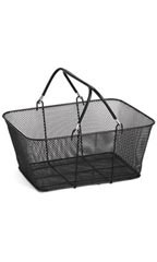 Black Wire Metal Shopping Baskets
