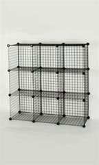 Cube Mini Grid Displays - Black