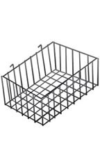 "Black Mini-Grid Baskets - 12"" x 8"" x 4"""