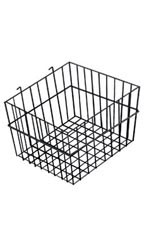 "Black Mini-Grid Baskets - 12"" x 12"" x 8"""
