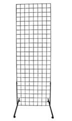 Black Retail Standing Grid Screens - 6'