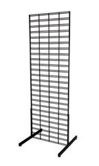 Black Retail Slat Grid Stands - 6'