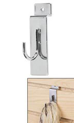 Slatwall Display Hook - Chrome