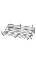 "24""L x 12""D x 6""H Downslope Shelves- Black"