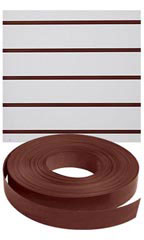 Vinyl Slatwall Insert - Distressed Brown