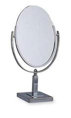 Tilting Oval Counter Mirrors With Square Base