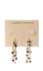 Tan Plastic Imprinted Earring Cards