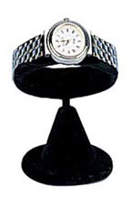 Black Velvet Horizontal Watch Stands