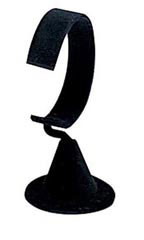 Black Velvet Vertical Watch Stands