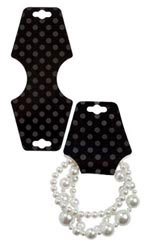 Black Dots Necklace Foldover