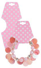 Necklace Foldover Pink with Dots