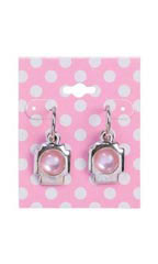 Earring Card Pink With Dots