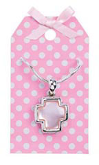 Necklace Holder Pink with Dots