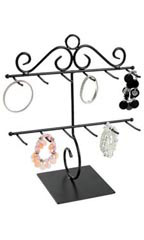 Two Tiered Bracelet Holder in Black