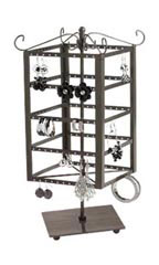 Raw Steel Small Tiered Square Jewelry Carousel