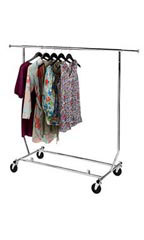 Portable Salesman Rolling Clothing Racks