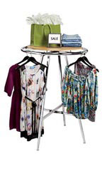 Chrome Round Garment Racks
