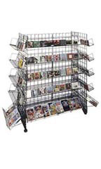 CD/DVD Grid Retail Gondolas - Black