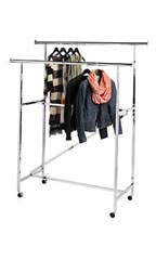 Double-Rail Clothing Rack with Z Brace