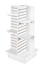 4-Panel Slatwall Tower with Base- White