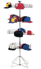 4-Tier Floor Standing Cap Racks