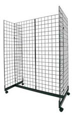 Black Retail Grid Gondola Unit