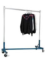 Heavy Duty Z-Truck Single Rail Salesman Racks