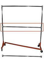 Additional Hangrail Bar for Heavy Duty Z Truck Clothing Racks