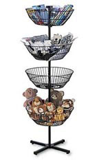 4-Basket Spinner Rack