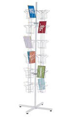 White 48 Pocket Greeting Card Rack