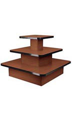 Three Tier Table Square Cherry - 60401