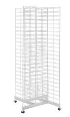 White 4-Way Slat Grid Racks - 6.5